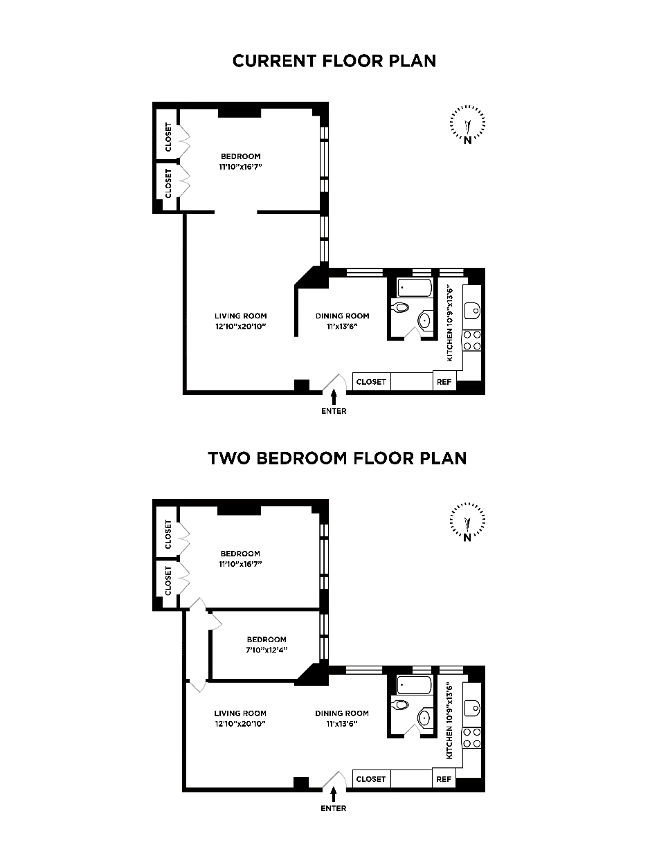 Current and Alternative Floorplan