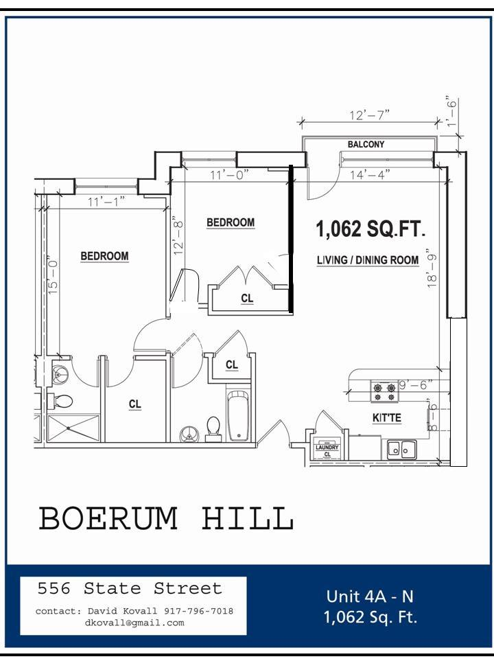 Floor plan at 556 State Street, 4A