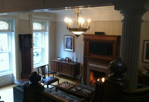 Front Parlor, view from staircase.