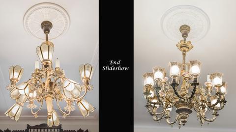 Original 1899 chandeliers on Parlor floor