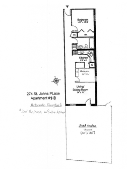 Alternate Floor Plan 1 - 2nd bedroom w/galley kitchen