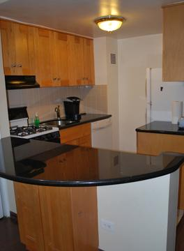 Updated kitchen with granite countertop