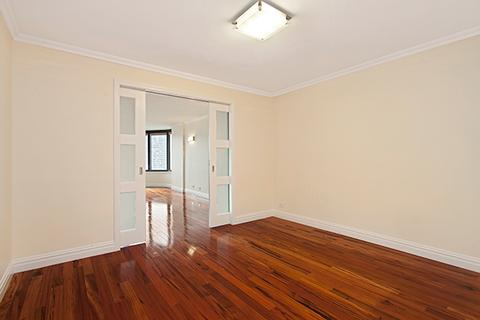 Dining / study.  Pocket doors lead to living room, and can be closed for privacy if desired.