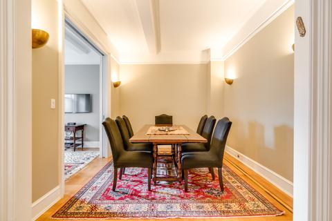 Dining Room with View into Library/Third Bedroom