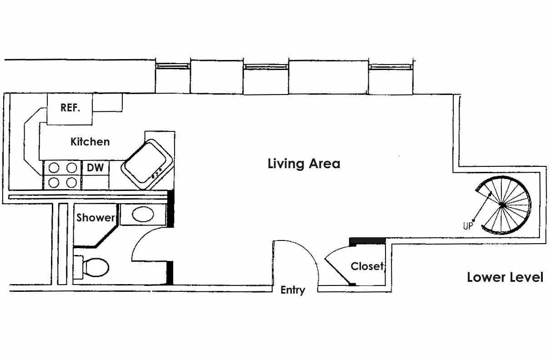 Floor plan, lower level