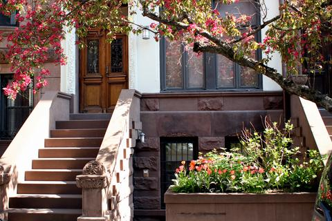 The apartment is in a lovingly restored brownstone townhouse