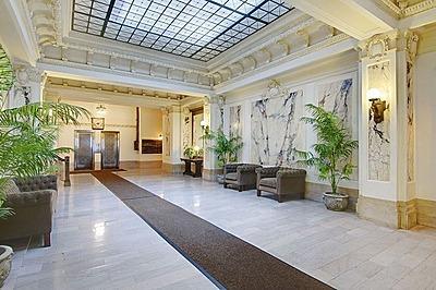 Lobby restored to pre-war grandeur