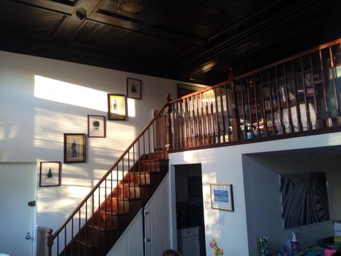 Stairs to loft (afternoon light)