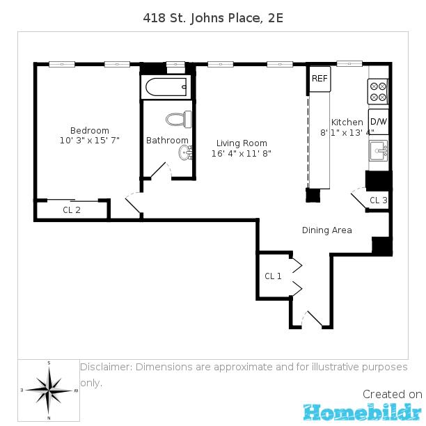 418 saint john 39 s place 2e prospect heights brooklyn ny for 15 dunham place brooklyn ny floor plans