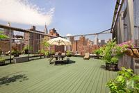 The gorgeous planted roof deck