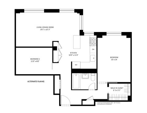 Second Alternative floor plan