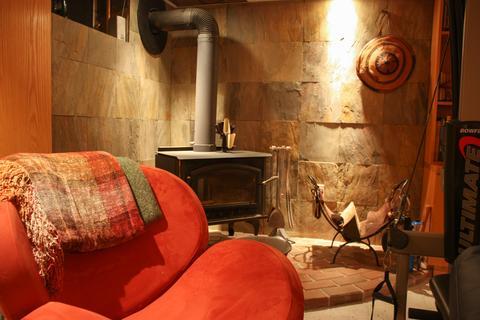 Woodburning Stove - Basement