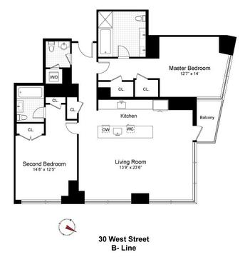 Floor Plan (Unit 33B)