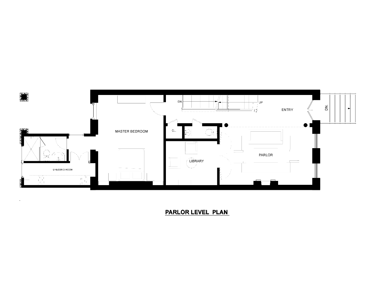 PARLOR LEVEL WITH LIBRARY AND MASTER SUITE