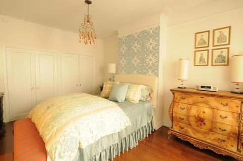 Bedroom with two huge double California closets