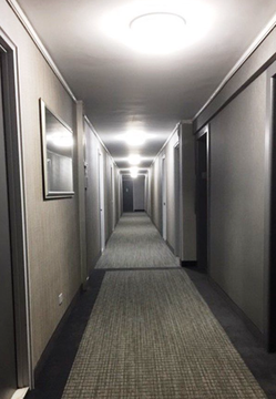 Recently renovated hallways