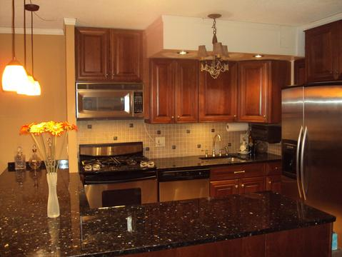 Granite and Cherry Kitchen