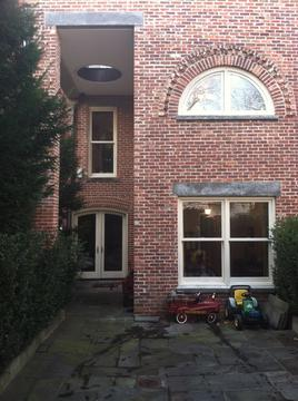 Rear Addition- salvaged brick and bluestone, new Marvin Windows