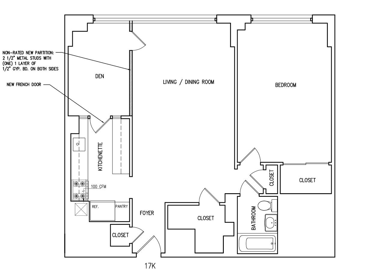 Current floorplan, with second bedroom