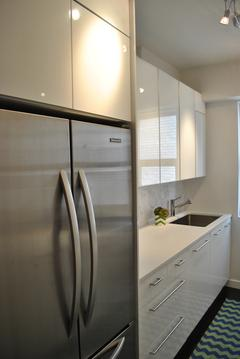 Windowed Kitchen Entry/Refrigerator