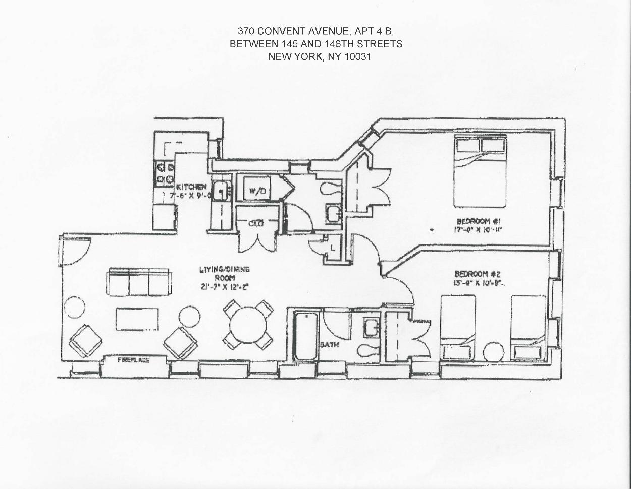 Original and current floor plan