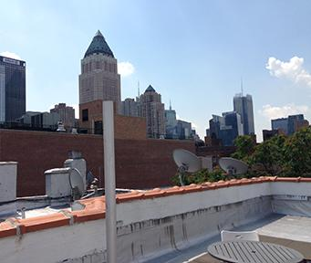 Eastern view from roof.