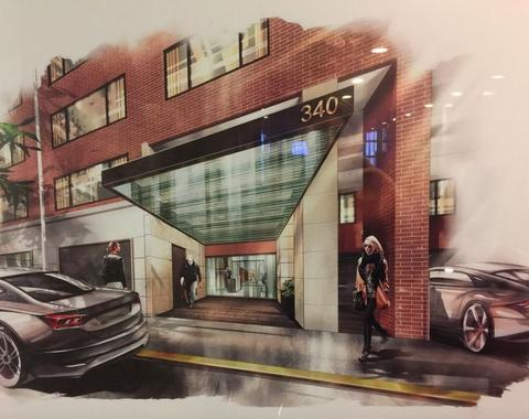 Rendering of the 64th Street Entrance