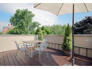 Roof Terrace accessed from the family room. Total privacy in tree tops. ipe wood