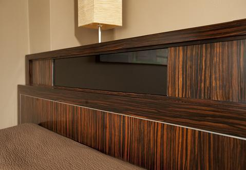 Detail of built-in platform bed