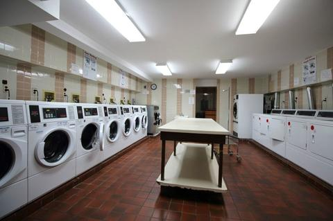laundry room in building