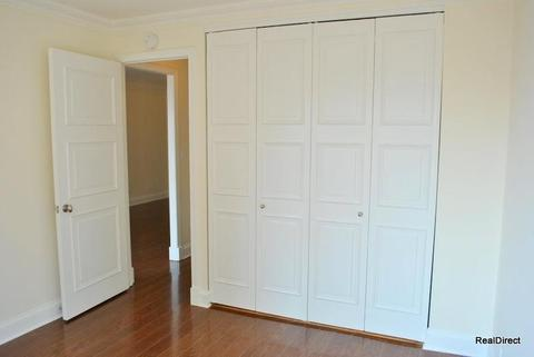 Double closets in bedroom