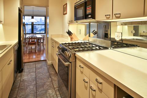 Kitchen with downtown views