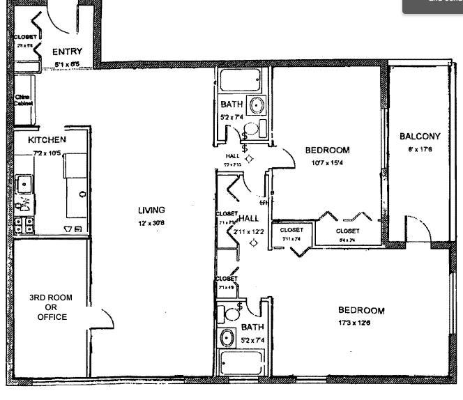 Proposed Floor Plan W/ 3rd Room or Office