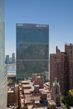 View from Kitchen of UN area and East River